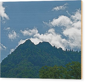 The Chimney Tops Wood Print