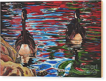 The Chincgacousy Lovers 2 Wood Print by Henny Dagenais