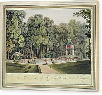 The Chinese Pavilion In The Laxenburg Wood Print by Laurenz Janscha