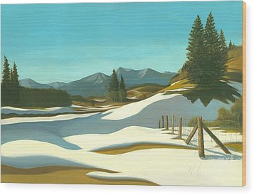 The Chinook Wind Blows Wood Print by Michael Swanson