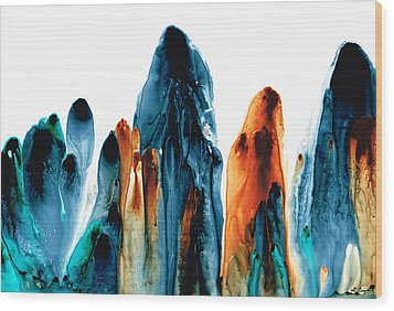 The Chosen Ones - Emotive Abstract Painting Wood Print by Sharon Cummings