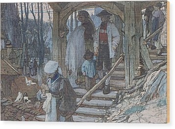 The Christening Gate In Lausanne, C.1861 Wood Print by Matthijs Maris