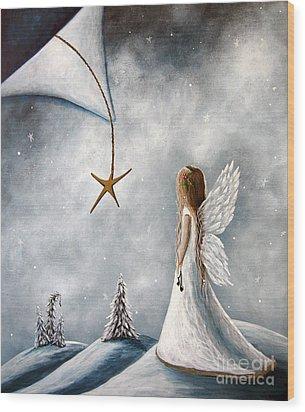 The Christmas Star Original Artwork Wood Print
