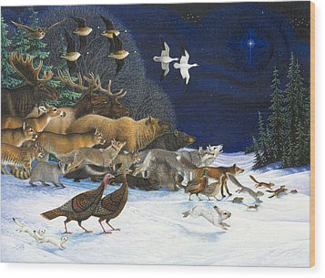 The Christmas Star Wood Print by Lynn Bywaters