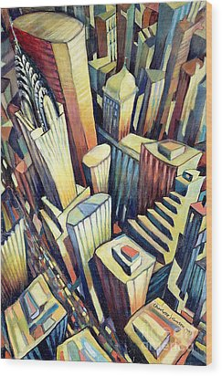 The Chrysler Building Wood Print by Charlotte Johnson Wahl