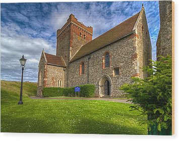 The Church At Dover Castle Wood Print by Tim Stanley