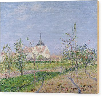 The Church At Vaudreuil Wood Print by Gustave Loiseau