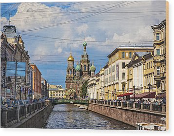 The Church Of Our Savior On Spilled Blood - St. Petersburg - Russia Wood Print by Madeline Ellis
