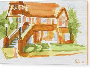 The Church On Shepherd Street Vi Wood Print by Kip DeVore