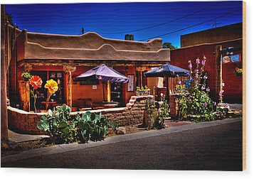 The Church Street Cafe - Albuquerque New Mexico Wood Print by David Patterson