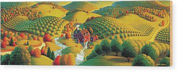 The Cider Mill Wood Print by Robin Moline