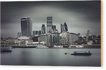 The City Of London Wood Print