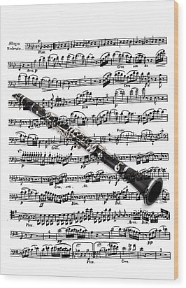 The Clarinet Wood Print by Ron Davidson