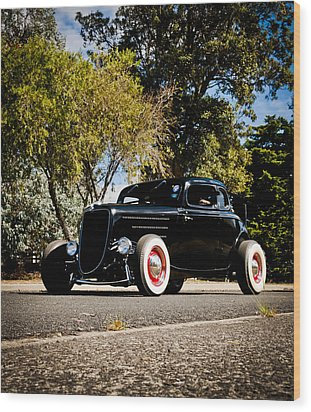 The Classic Hot Rod Wood Print by motography aka Phil Clark
