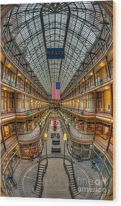 The Cleveland Arcade Vii Wood Print by Clarence Holmes