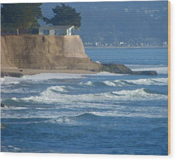 The Cliff House Wood Print by Deana Glenz