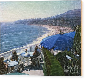The Cliff Laguna Beach Wood Print by Glenn McNary
