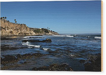 The Cliffs Of Pismo Beach Wood Print by Judy Vincent