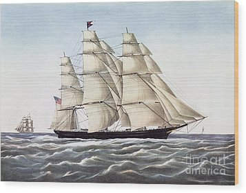 The Clipper Ship Flying Cloud Wood Print by Anonymous