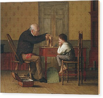 The Clock Doctor, 1871 Wood Print by Enoch Wood Perry