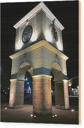 The Clock Tower Wood Print by Guy Ricketts