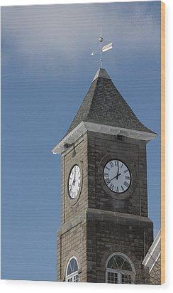 The Clock Tower Wood Print by Rhonda Humphreys