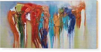 Wood Print featuring the painting The Closet by Lisa Kaiser
