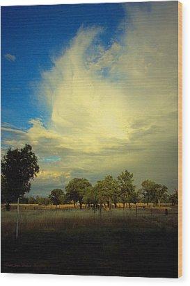 The Cloud Wood Print by Joyce Dickens