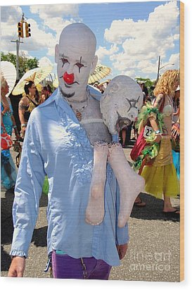 Wood Print featuring the photograph The Clown by Ed Weidman