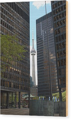 The Cn Tower Wood Print