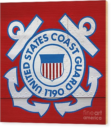 The Coast Guard Shield Wood Print by Olivier Le Queinec