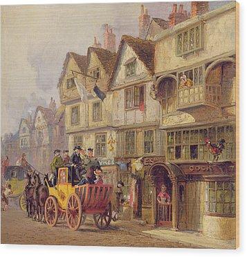 The Cock Tavern Wood Print by Albert Joseph Moore