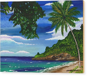 The Coconut Tree Wood Print