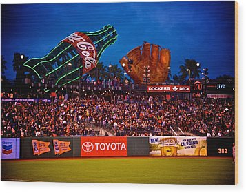 The Coke And Glove Wood Print by Eric Tressler