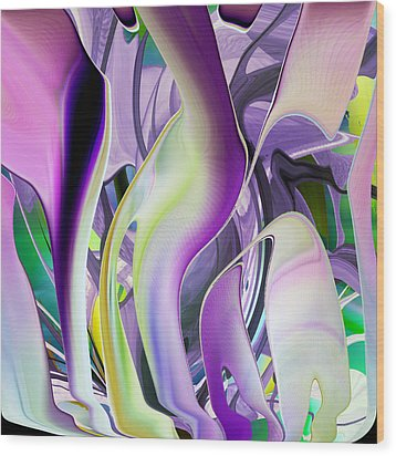 The Color Of Iris - Digital Abstract Art Wood Print