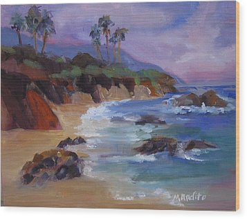 The Color Of Laguna Wood Print by MaryAnne Ardito