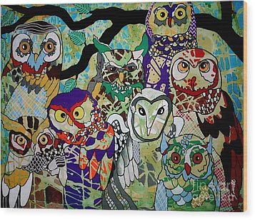 The Color Of Owls Wood Print by Amy Sorrell