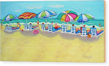 The Color Of Summer  Wood Print by Rebecca Korpita