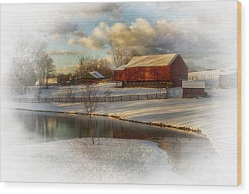The Color Of Winter Wood Print by Kathy Jennings