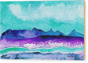 Wood Print featuring the painting The Colorado River by Anne Duke