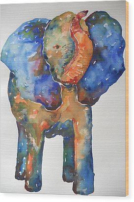 The Colorful Elephant Wood Print by Brandi  Hickman