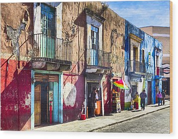 The Colorful Streets Of Puebla Mexico Wood Print