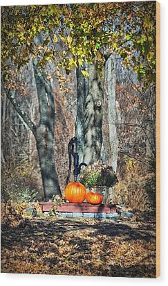 The Colors Of November Wood Print