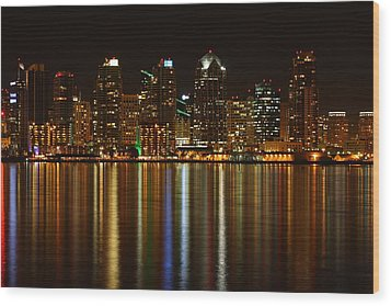 The Colors Of San Diego Wood Print by Nathan Rupert