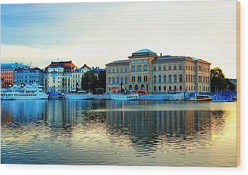 The Colors Of Stockholm Wood Print by Jenny Hudson