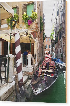 The Colors Of Venice Wood Print