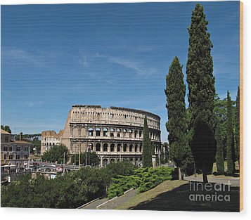 The Colosseum In Rome Wood Print by Kiril Stanchev