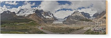The Columbia Icefield Wood Print