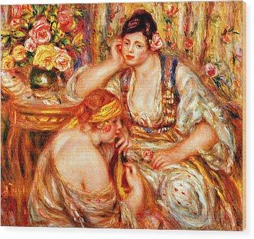 The Concert Wood Print by Pierre Auguste Renoir