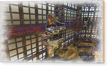 Wood Print featuring the digital art The Concertroom by Susanne Baumann